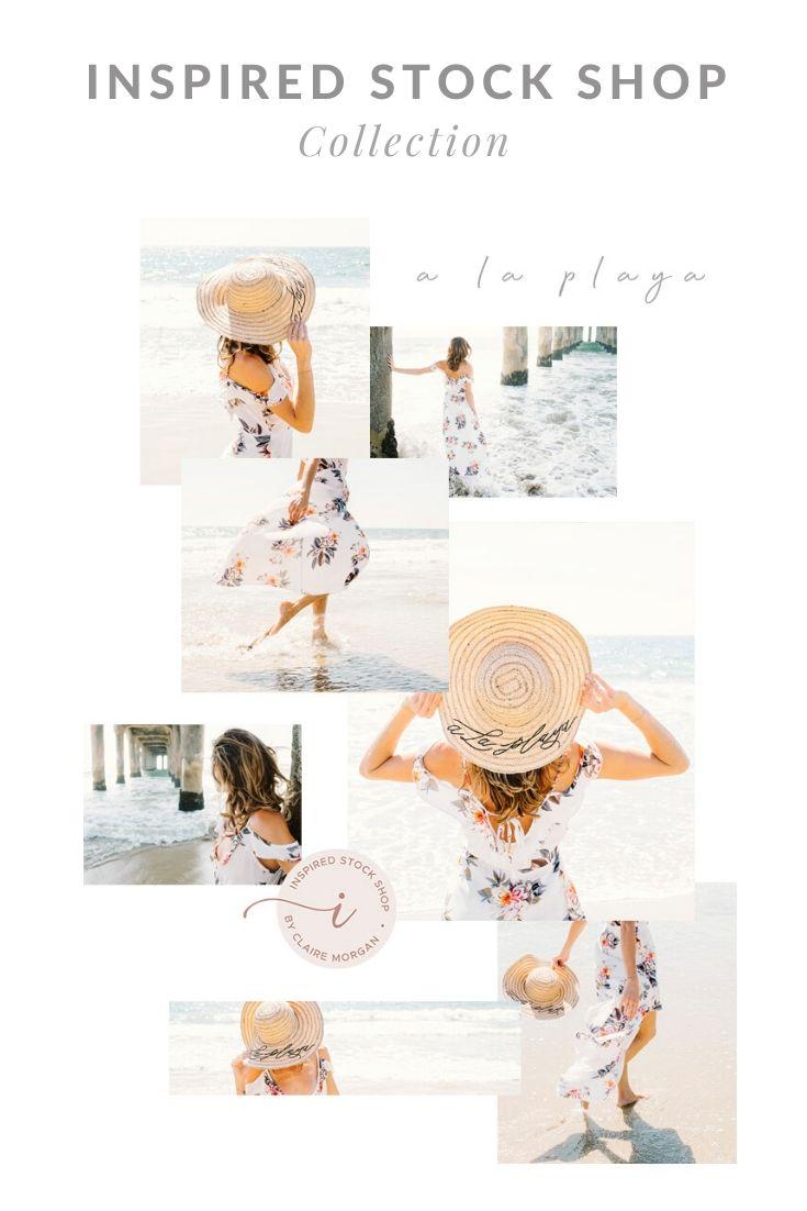 beach lifestyle stock photo collection