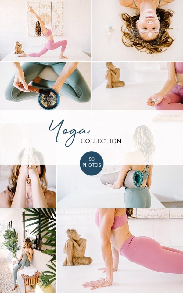 Yoga stock photography bundle