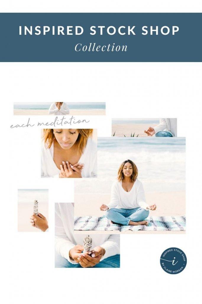 beach-meditation-stock-photos