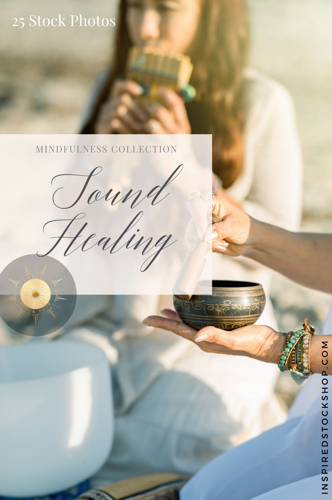 Sound and energy healing stock photo bundle for spiritual entrepreneurs